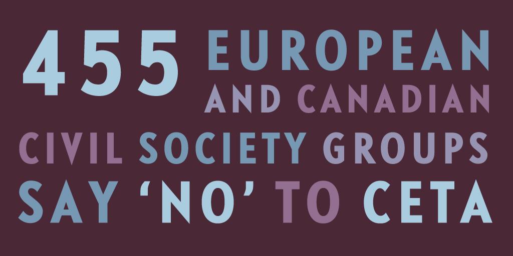 Over 450 European And Canadian Civil Society Groups Urge Legislators