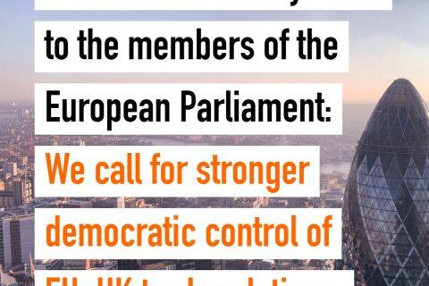 Civil Society call for democratic control of EU-UK trade relations
