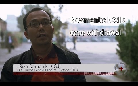 Riza Damanik (IGJ): Newmont's ICSID case withdrawal